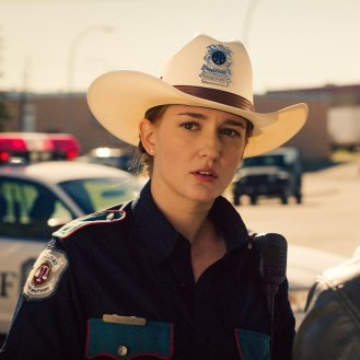 Katherine Barrell is Officer Haught