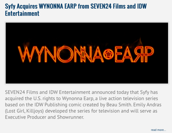 IDW Entertainment & Wynonna Earp